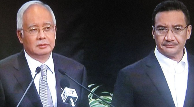 Malaysia Says Jet Went Down in Ocean