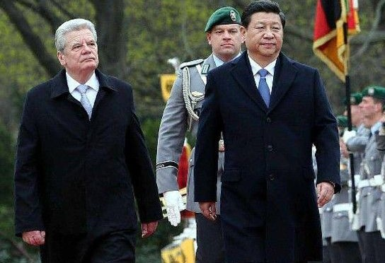 Chinese, German presidents discuss relations