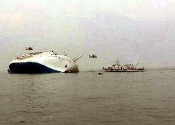 Passenger ship carrying 477 sinks off S. Korean coast