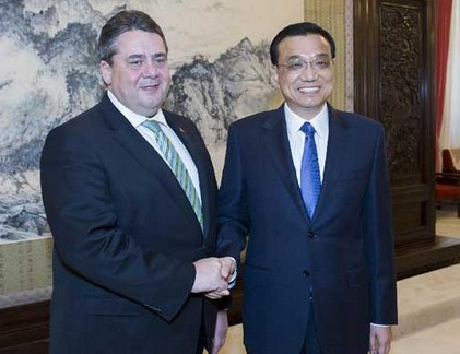Chinese premier meets German vice chancellor