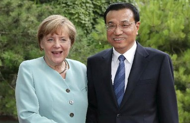 Chinese, German PMs meet before official talks