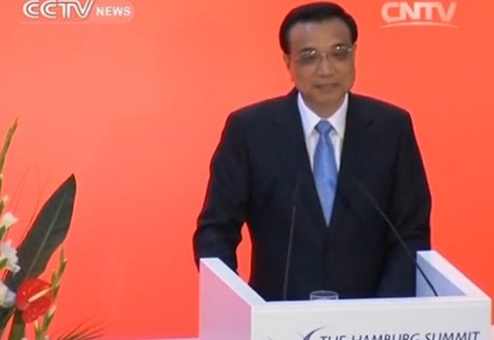 "Premier Li in Germany: ""China to further open its economy"""