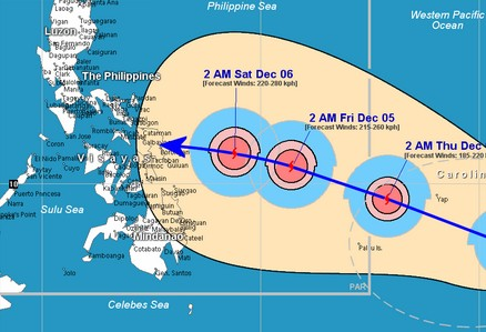 Typhoon Hagupit takes aim at the Philippines