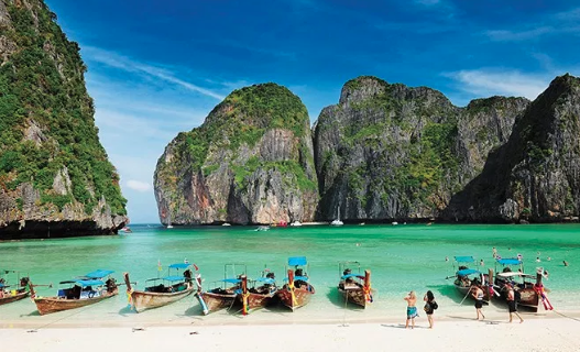 Maya Beach is closed, but open for tourists
