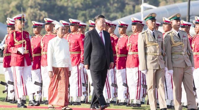 China President Xi Jingping visits Myanmar